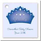 Prince Crown - Personalized Baby Shower Card Stock Favor Tags