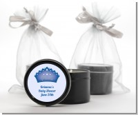 Prince Crown - Baby Shower Black Candle Tin Favors