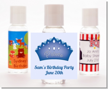 Prince Crown - Personalized Baby Shower Hand Sanitizers Favors