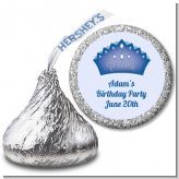 Prince Crown - Hershey Kiss Birthday Party Sticker Labels