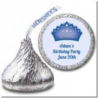 Prince Crown - Hershey Kiss Baby Shower Sticker Labels