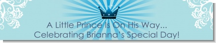 Prince Royal Crown - Personalized Baby Shower Banners