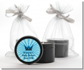 Prince Royal Crown - Baby Shower Black Candle Tin Favors