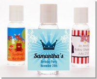 Prince Royal Crown - Personalized Baby Shower Hand Sanitizers Favors