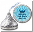 Prince Royal Crown - Hershey Kiss Baby Shower Sticker Labels thumbnail