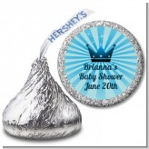 Prince Royal Crown - Hershey Kiss Baby Shower Sticker Labels