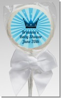 Prince Royal Crown - Personalized Baby Shower Lollipop Favors
