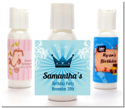 Prince Royal Crown - Personalized Birthday Party Lotion Favors