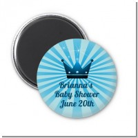 Prince Royal Crown - Personalized Baby Shower Magnet Favors