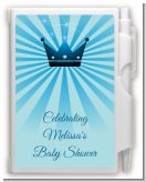 Prince Royal Crown - Baby Shower Personalized Notebook Favor