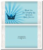 Prince Royal Crown - Personalized Popcorn Wrapper Baby Shower Favors