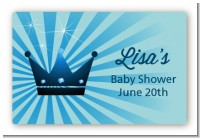 Prince Royal Crown - Baby Shower Landscape Sticker/Labels