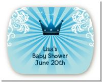 Prince Royal Crown - Personalized Baby Shower Rounded Corner Stickers