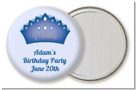 Prince Crown - Personalized Birthday Party Pocket Mirror Favors