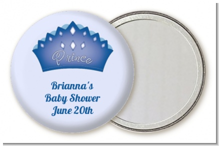 Prince Crown - Personalized Baby Shower Pocket Mirror Favors