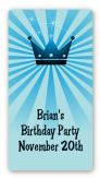 Prince Royal Crown - Custom Rectangle Birthday Party Sticker/Labels