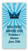 Prince Royal Crown - Custom Rectangle Baby Shower Sticker/Labels