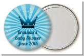 Prince Royal Crown - Personalized Baby Shower Pocket Mirror Favors