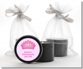 Princess Crown - Birthday Party Black Candle Tin Favors