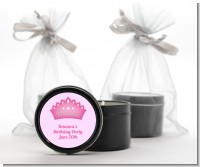 Princess Crown - Baby Shower Black Candle Tin Favors