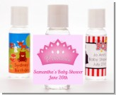 Princess Crown - Personalized Birthday Party Hand Sanitizers Favors