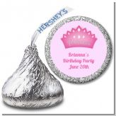 Princess Crown - Hershey Kiss Baby Shower Sticker Labels