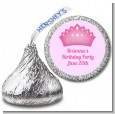Princess Crown - Hershey Kiss Birthday Party Sticker Labels thumbnail