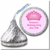 Princess Crown - Hershey Kiss Birthday Party Sticker Labels
