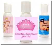 Princess Crown - Personalized Baby Shower Lotion Favors
