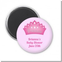 Princess Crown - Personalized Baby Shower Magnet Favors