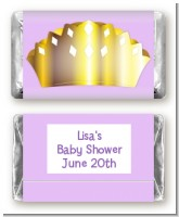 Princess Crown - Personalized Baby Shower Mini Candy Bar Wrappers