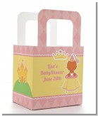 Little Princess African American - Personalized Baby Shower Favor Boxes