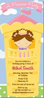 Princess in Tower - Birthday Party Tall Invitations