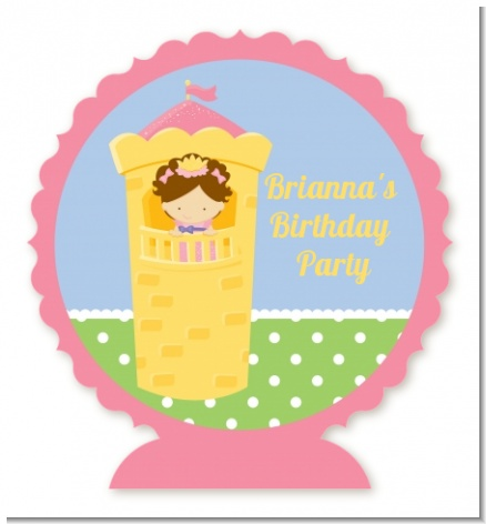 Princess in Tower - Personalized Birthday Party Centerpiece Stand