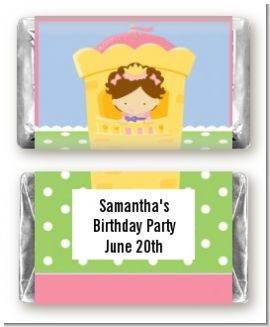 Princess in Tower - Personalized Birthday Party Mini Candy Bar Wrappers