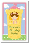 Princess in Tower - Custom Large Rectangle Birthday Party Sticker/Labels