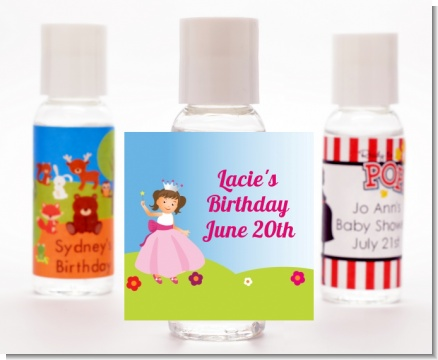 Princess Rolling Hills - Personalized Birthday Party Hand Sanitizers Favors