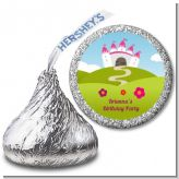 Princess Rolling Hills - Hershey Kiss Birthday Party Sticker Labels
