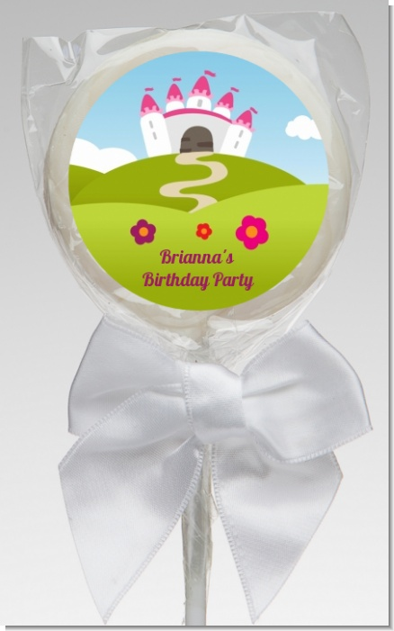 Princess Rolling Hills - Personalized Birthday Party Lollipop Favors