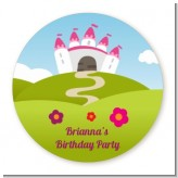 Princess Rolling Hills - Round Personalized Birthday Party Sticker Labels