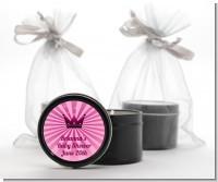 Princess Royal Crown - Baby Shower Black Candle Tin Favors