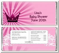 Princess Royal Crown - Personalized Baby Shower Candy Bar Wrappers