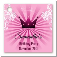 Princess Royal Crown - Personalized Birthday Party Card Stock Favor Tags
