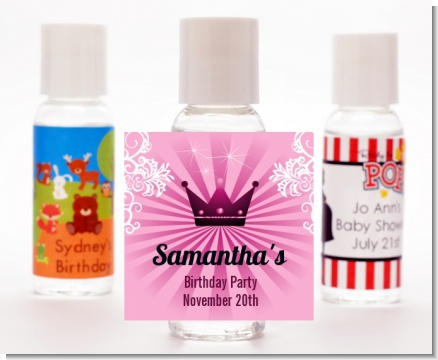 Princess Royal Crown - Personalized Baby Shower Hand Sanitizers Favors