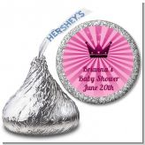 Princess Royal Crown - Hershey Kiss Baby Shower Sticker Labels
