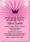 Princess Royal Crown - Baby Shower Invitations