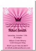 Princess Royal Crown - Birthday Party Petite Invitations
