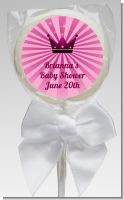 Princess Royal Crown - Personalized Baby Shower Lollipop Favors