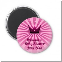 Princess Royal Crown - Personalized Baby Shower Magnet Favors