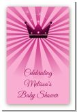 Princess Royal Crown - Custom Large Rectangle Baby Shower Sticker/Labels